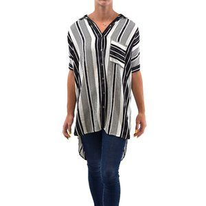 ETIQUETTE Striped High Low Tunic Top #LL20